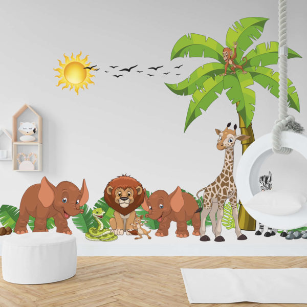 Vidám állatok a dzsungelben (közepes)