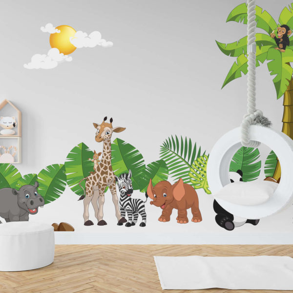 Vidám állatok a dzsungelben (nagy)